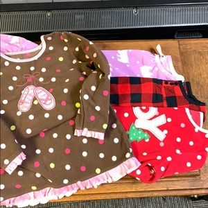 4 fleece Carter's Gymboree nightgowns 4T/2-3T